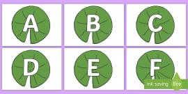 A-Z Alphabet on Lily Pads