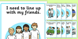 Lining Up Social Situation Posters