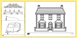 Houses and Homes Colouring Sheets