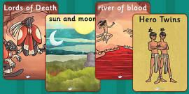 The Hero Twins Mayan Civilization Display Posters