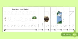 Pencil Control Activity Sheet Pack to Support Teaching on Bear Hunt