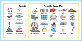Seaside Word Mats