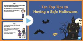 Ten Top Tips for Having a Safe Halloween PowerPoint