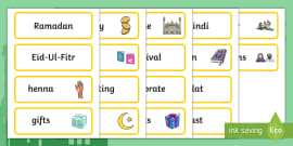 Eid Topic Word Cards