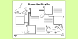 Dinosaur Hunt Story Map Activity Sheet