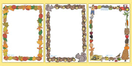 Autumn Page Borders (Full)