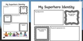 Superhero Transition Writing Frame