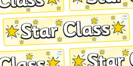 Star Themed Classroom Display Banner