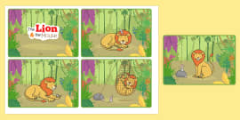 The Lion And The Mouse Story Sequencing Cards