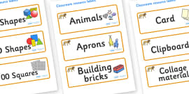 Lion Themed Editable Classroom Resource Labels