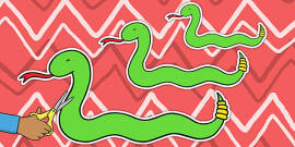 Snakes of Varying Lengths Cut Outs
