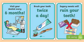 Dentists/Dental Surgery Role Play Display Posters