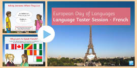 * NEW * KS2 European Day of Languages Speaking French PowerPoint