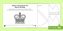 The Queen's Birthday Design a Party Hat Activity Sheet