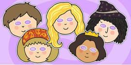 Rapunzel Story Role Play Masks