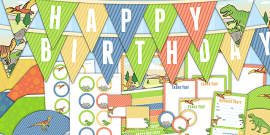 Dinosaur Themed Birthday Party Pack