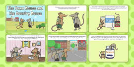 The Town Mouse and the Country Mouse Story Sequencing (4 per A4)