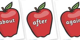 KS1 Keywords on Red Apples