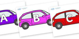 A-Z Alphabet on Cars