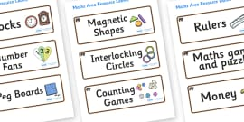 Bear Themed Editable Maths Area Resource Labels