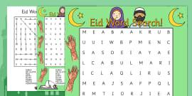 Eid Word Search