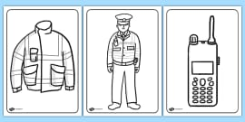 Police Colouring Pages