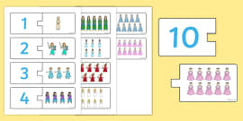 Princess Themed Counting Matching Puzzle