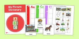 The Train Ride Word Card and Picture Dictionary Set