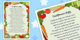 Cauliflowers Fluffy Lyrics Activity Sheet