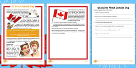 Canada Day Reading Comprehension Activities