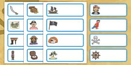 Editable Drawer - Peg - Name Labels (Pirates)