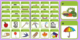 Initial Sound Picture Cards (A-Z)
