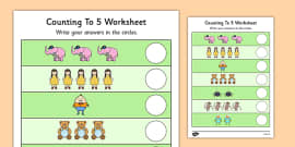 Nursery Rhyme Themed Counting to 5 Activity Sheet