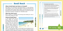 Bondi Beach Fact File