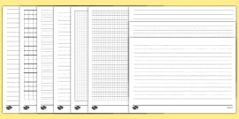 Different Lined Papers Template Pack