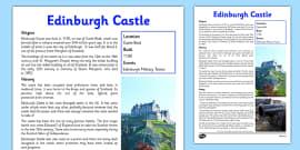 Edinburgh Castle Information Sheet
