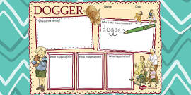 Story Review Writing Frame to Support Teaching on Dogger