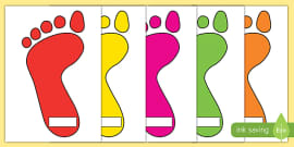 Our Next Steps Footprints Display Sign
