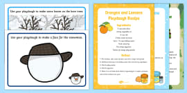 Playdough Recipe and Mat Pack to Support Teaching on The Snowman