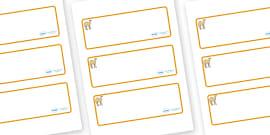 Camel Themed Editable Drawer-Peg-Name Labels (Blank)