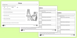 The Secret Garden Transformation Theme Differentiated Activity Sheets