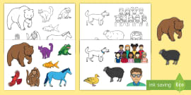 EYFS Story Cut-Outs to Support Teaching on Brown Bear Brown Bear
