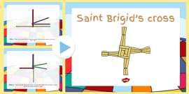 How to Make a Saint Brigid's Cross PowerPoint