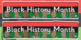 Black History Month Display Banner