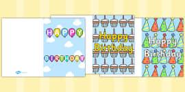 Birthday Card Writing Template