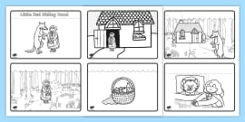 Little Red Riding Hood Story Sequencing (4 per A4)