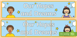 Our Hopes and Dreams Display Banner