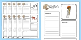 Sea Creatures Factfile Activity Sheets (Under the Sea)