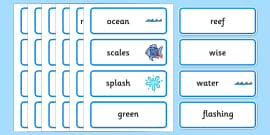 Word Cards to Support Teaching on The Rainbow Fish