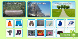 Photo Weather Clothes Sorting Activity